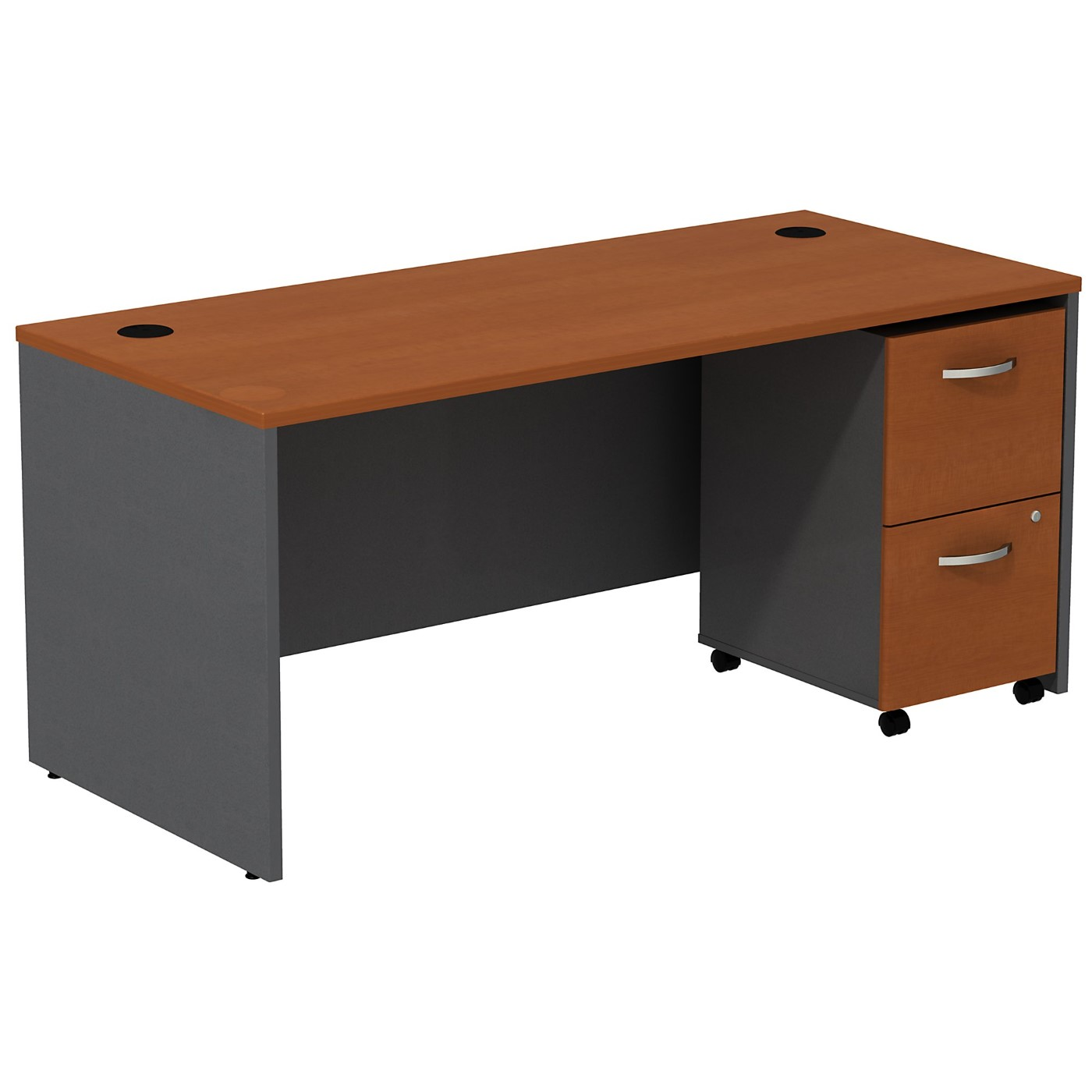 BUSH BUSINESS FURNITURE SERIES C DESK WITH 2 DRAWER MOBILE PEDESTAL. FREE SHIPPING SALE DEDUCT 10% MORE ENTER '10percent' IN COUPON CODE BOX WHILE CHECKING OUT.