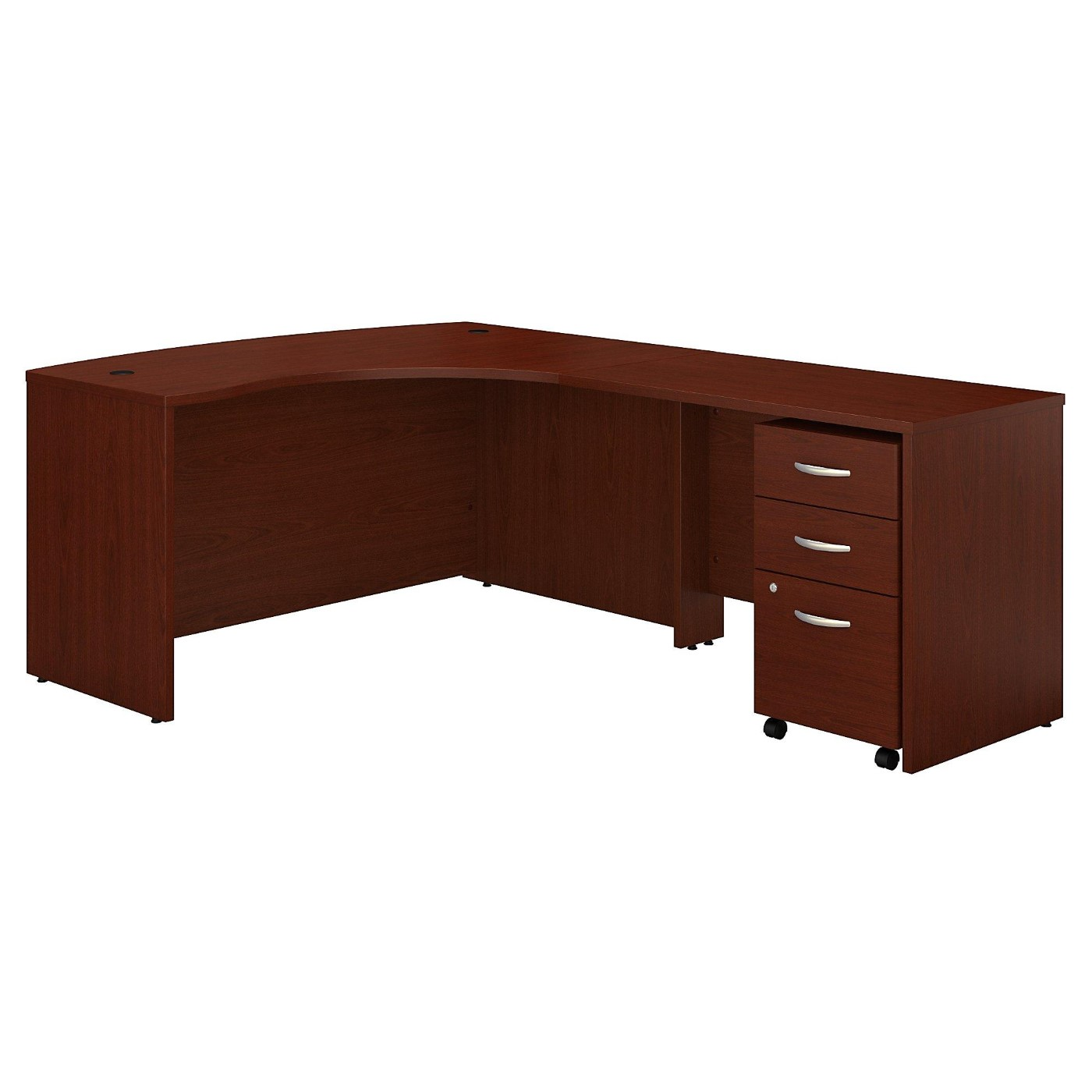 <font color=#c60><b>BUSH BUSINESS FURNITURE SERIES C LEFT HANDED L SHAPED DESK WITH MOBILE FILE CABINET. FREE SHIPPING</font></b>