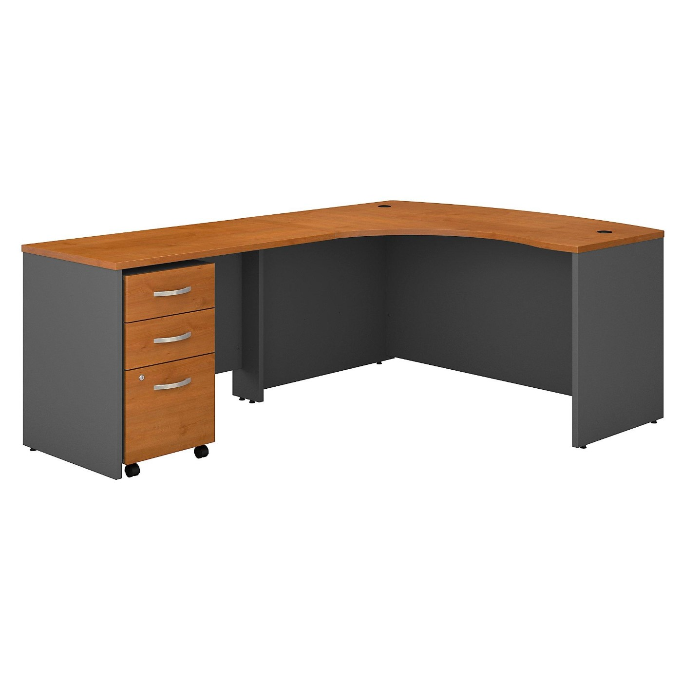 <font color=#c60><b>BUSH BUSINESS FURNITURE SERIES C RIGHT HANDED L SHAPED DESK WITH MOBILE FILE CABINET. FREE SHIPPING</font></b>