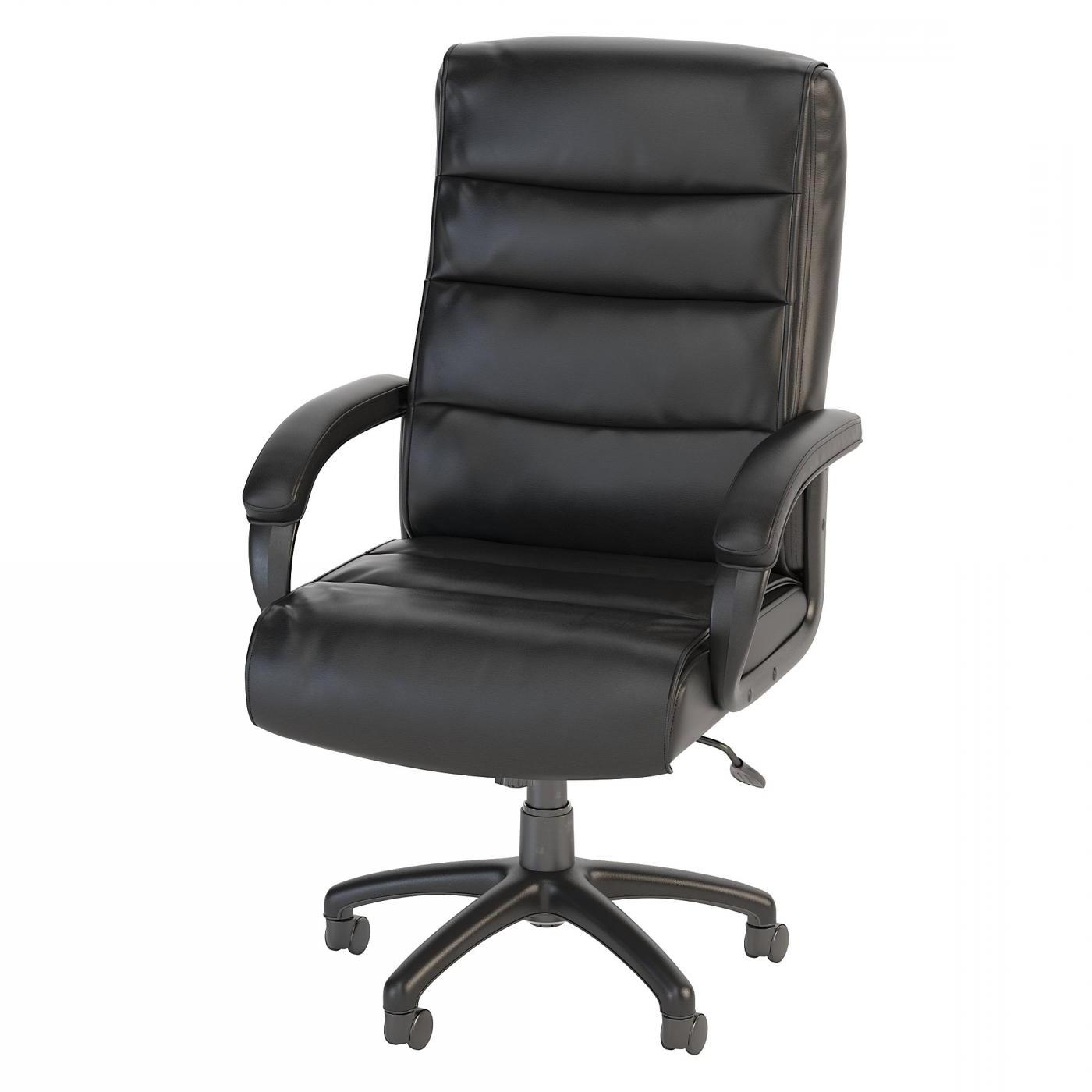 BUSH BUSINESS FURNITURE SOFT SENSE HIGH BACK LEATHER EXECUTIVE OFFICE CHAIR. FREE SHIPPING.  SALE DEDUCT 10% MORE ENTER '10percent' IN COUPON CODE BOX WHILE CHECKING OUT.