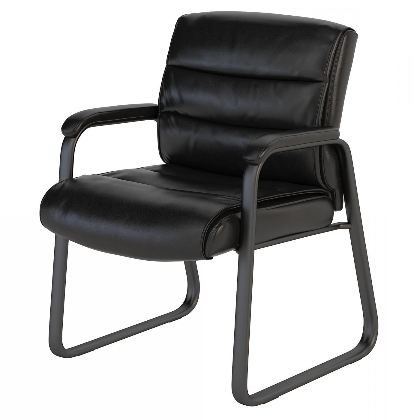 BUSH BUSINESS FURNITURE SOFT SENSE LEATHER GUEST CHAIR. FREE SHIPPING.  SALE DEDUCT 10% MORE ENTER '10percent' IN COUPON CODE BOX WHILE CHECKING OUT.