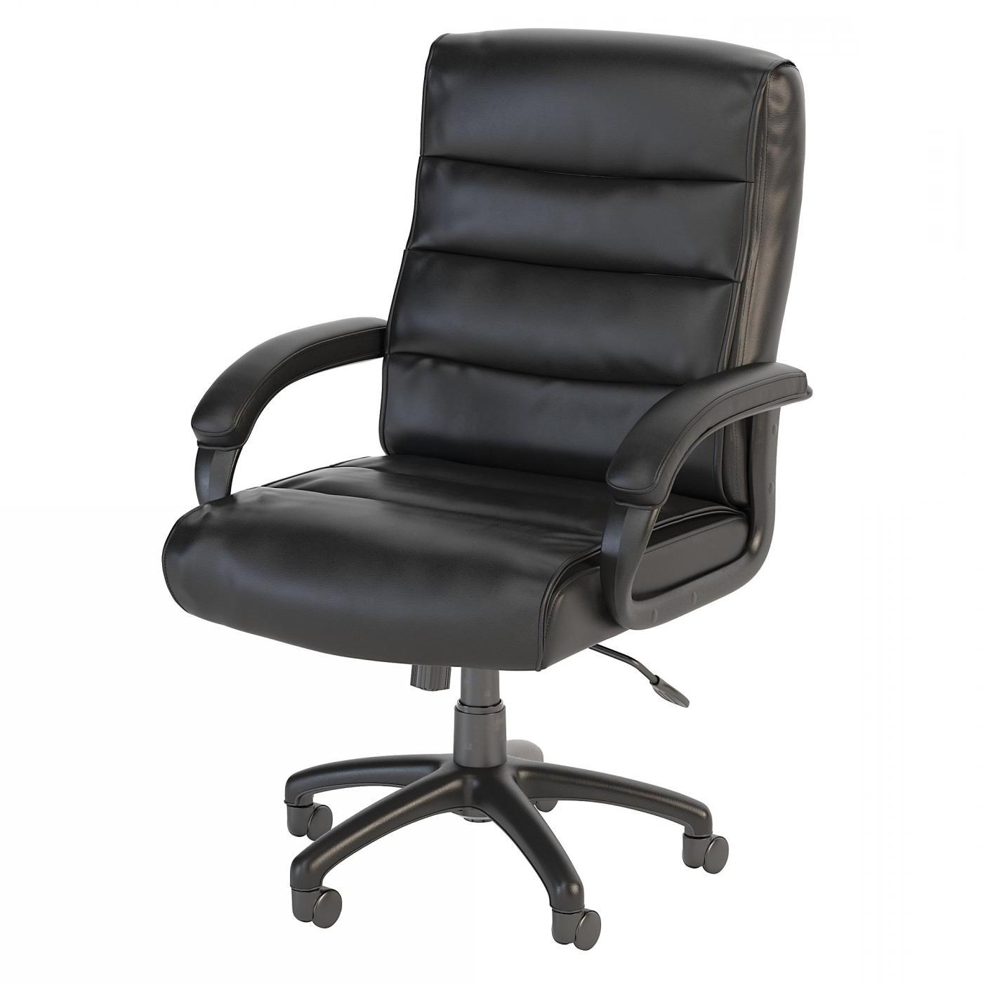 <font color=#c60><b>BUSH BUSINESS FURNITURE SOFT SENSE MID BACK LEATHER EXECUTIVE OFFICE CHAIR. FREE SHIPPING</font></b> </font></b>