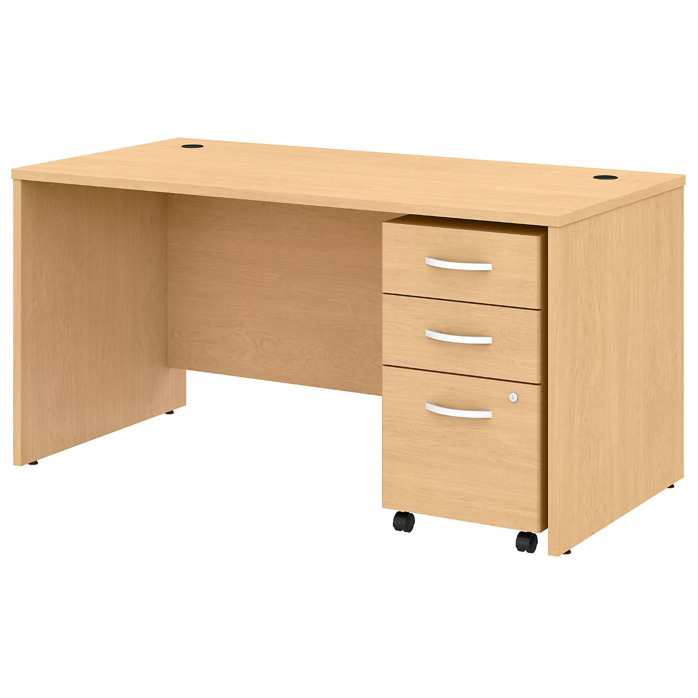 BUSH BUSINESS FURNITURE STUDIO C 60W X 30D OFFICE DESK WITH MOBILE FILE CABINET. FREE SHIPPING