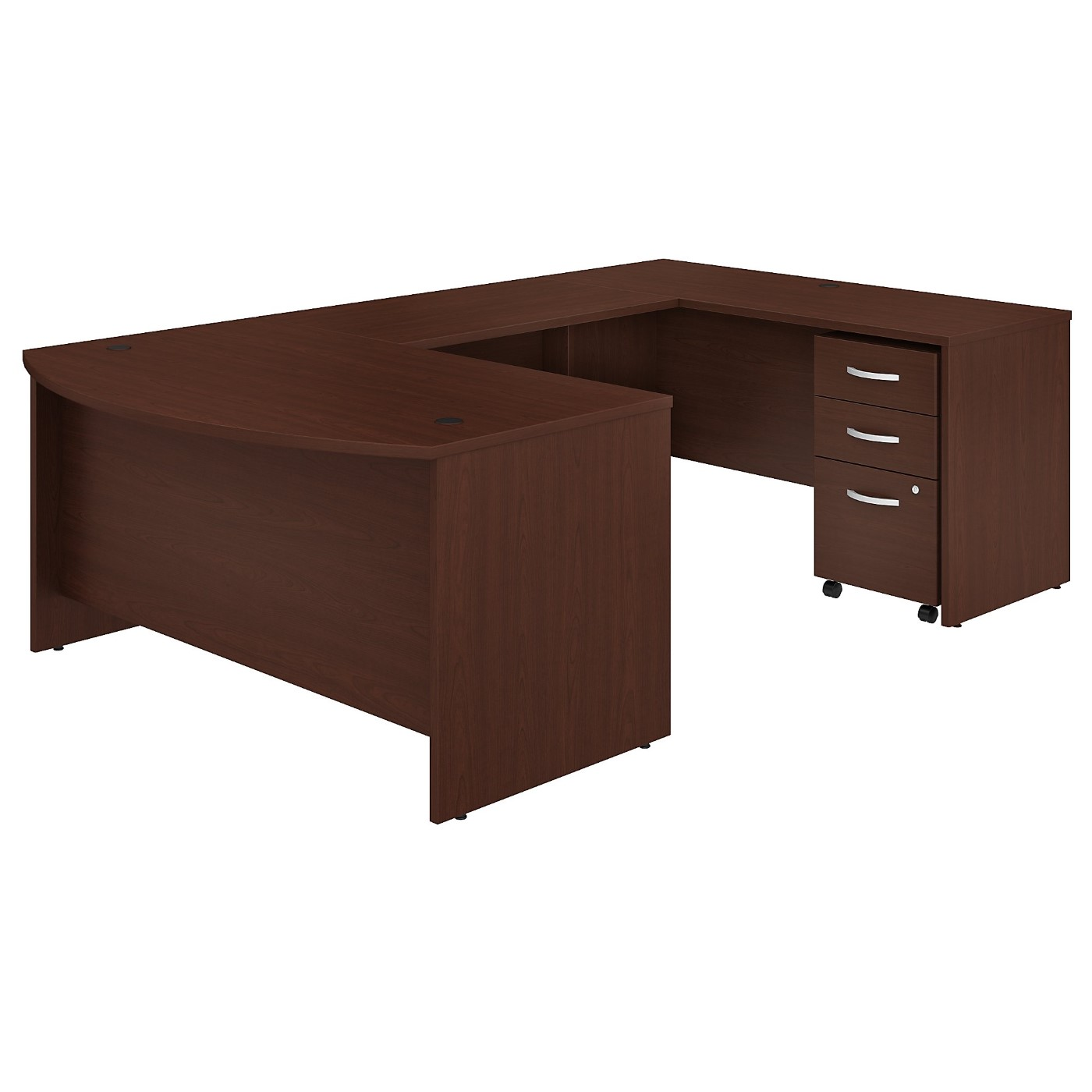 BUSH BUSINESS FURNITURE STUDIO C 60W X 36D U SHAPED DESK WITH MOBILE FILE CABINET. FREE SHIPPING