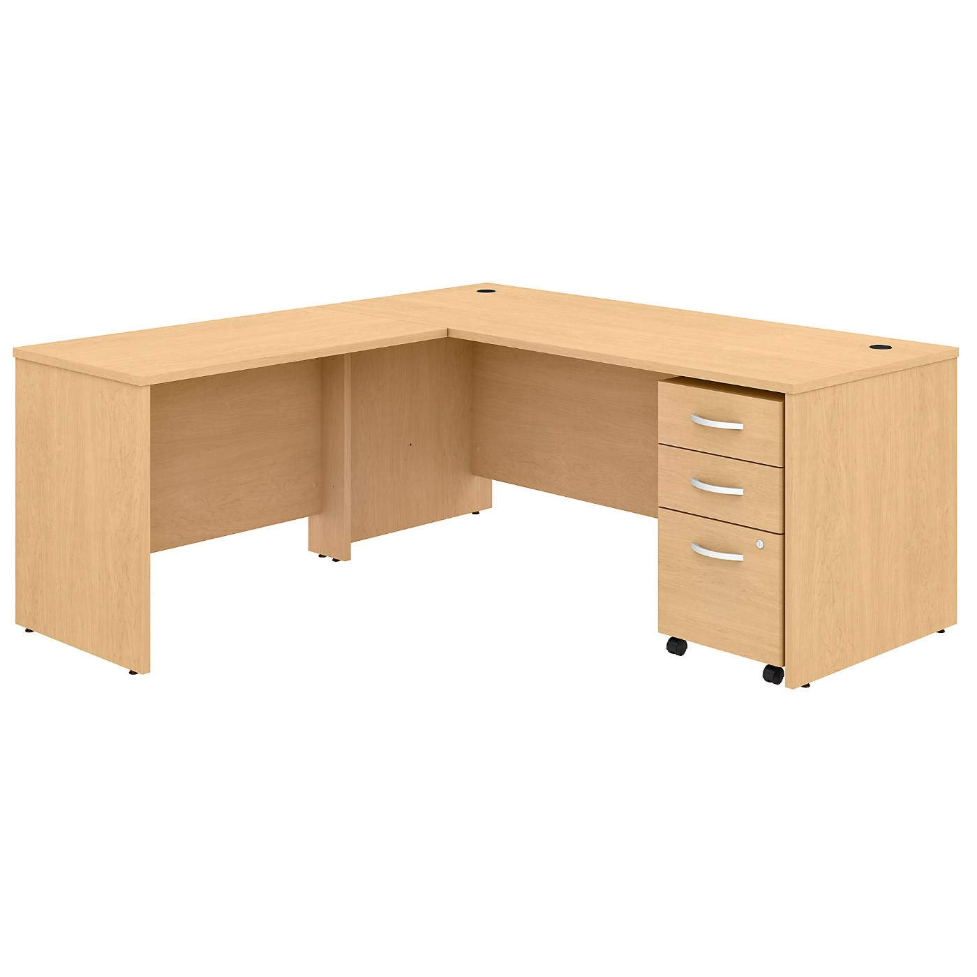 BUSH BUSINESS FURNITURE STUDIO C 72W X 30D L SHAPED DESK WITH MOBILE FILE CABINET AND 42W RETURN. FREE SHIPPING SALE DEDUCT 10% MORE ENTER '10percent' IN COUPON CODE BOX WHILE CHECKING OUT.