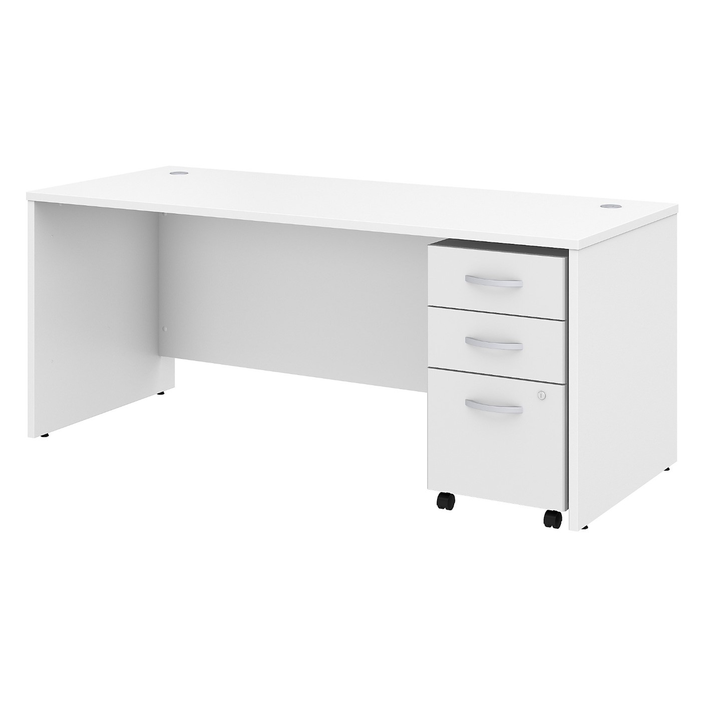 BUSH BUSINESS FURNITURE STUDIO C 72W X 30D OFFICE DESK WITH MOBILE FILE CABINET. FREE SHIPPING