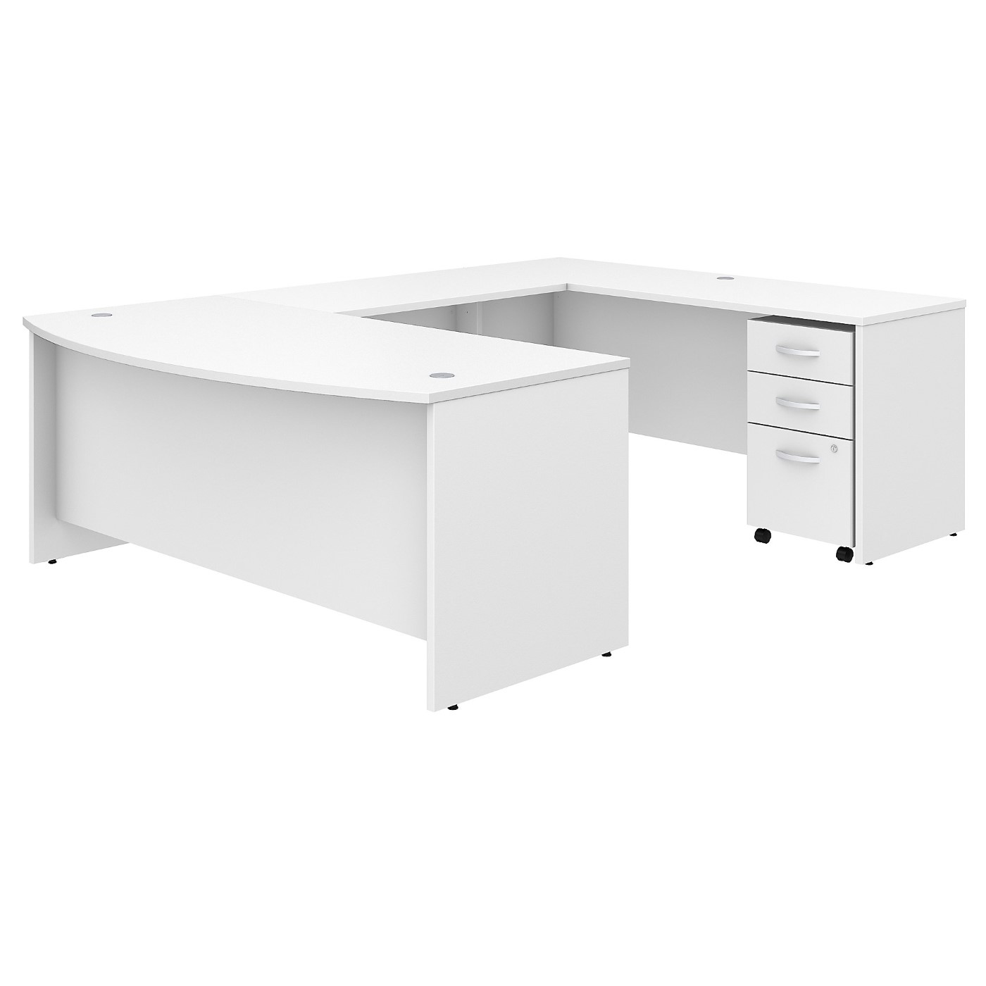 BUSH BUSINESS FURNITURE STUDIO C 72W X 36D U SHAPED DESK WITH MOBILE FILE CABINET. FREE SHIPPING