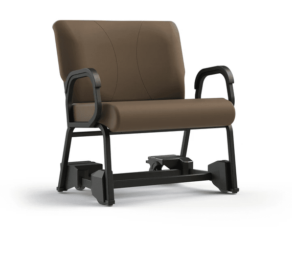 "BARIATRIC CHAIR W/FOOTBRAKE ON CASTERS. COMFORTEK TITAN SEATING SENIOR LIVING. FREE SHIPPING. ITEM #941-30-CC4. FRAME RATED AT 500LBS: WIDTH 30""."