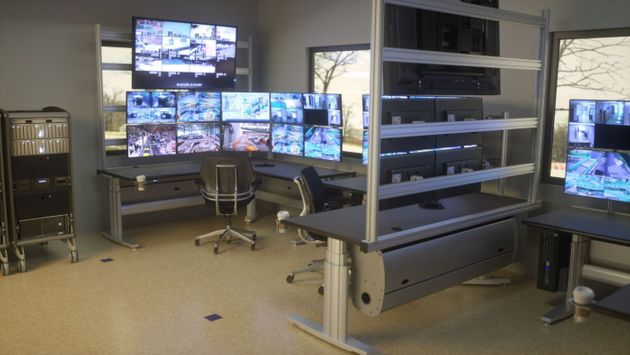 DISPATCH CONSOLES FOR CONTROL ROOM OPERATIONS. OPTIONAL SOCIAL DISTANCING PANELS. LAYOUT DRAWING B-4 PURCHASING.