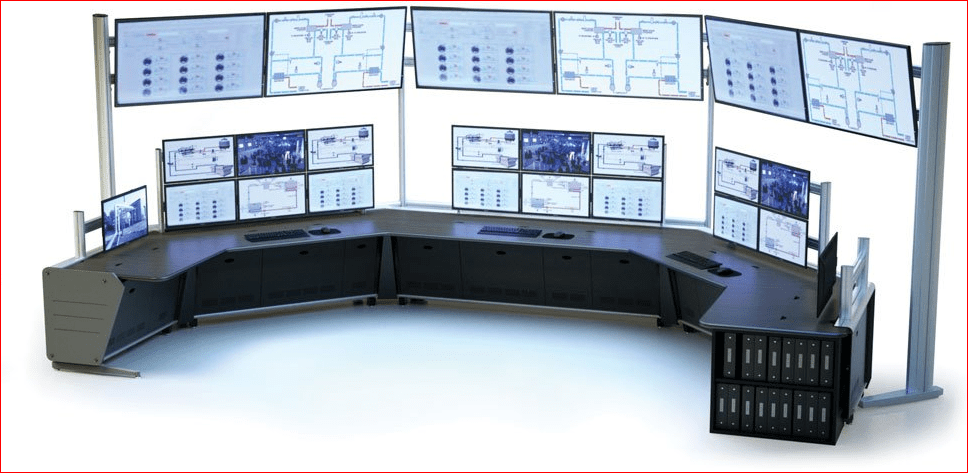CONTROLTRAC ADJUSTABLE AND FIXED HEIGHT PROCESS CONTROL CONSOLES. AMERICAN MADE FURNITURE TAA & BAA COMPLIANT.