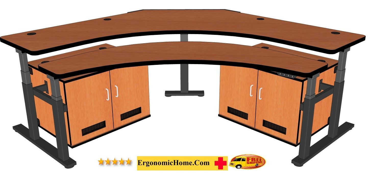 </b></font>CONTROL ROOM DESK / CORNER COMPUTER DESK INCLUDES TWO CPU CABINETS #RFQ1778-84 MORE:</b></font> </b></font></b>