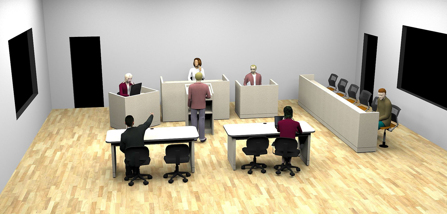 ACADEMY SERIES MOCK COURTROOM FURNITURE: