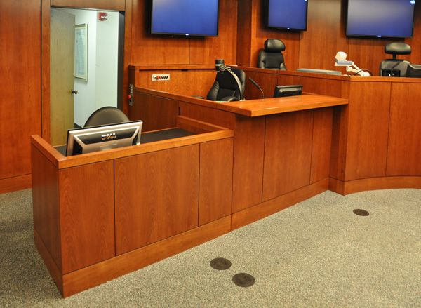 WITNESS STANDS   COURT REPORTER STAND   COURTROOM FURNITURE: