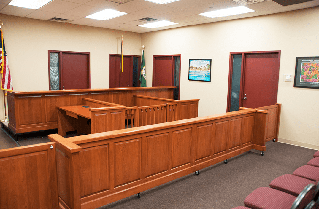 COURTROOM DIVIDERS AND GATES: