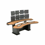 DISPATCH CONSOLES. CONTROL ROOM FURNITURE: CLEAR DESIGN, TBC, VIKING