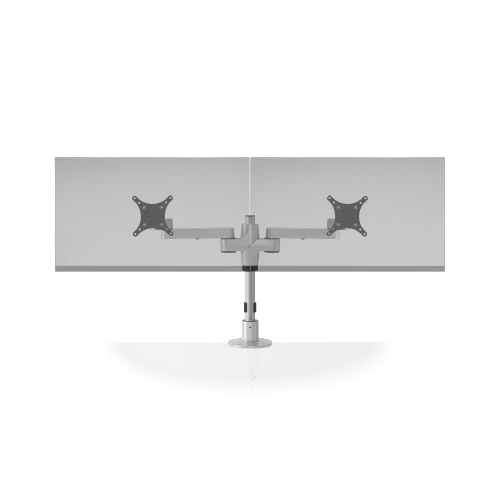 """DUAL MONITOR STAND SUPPORTS TWO MONITORS UP TO 24"""" WIDE. ITEM #STX-02S"""