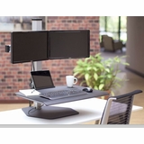 DUAL MONITOR STANDS SUPPORT TWO MONITORS HORIZONTALL OR VERTICALLY. ELECTRIC MOTORIZED HEIGHT ADJUSTABLE OR FIXED. VESA MOUNT: