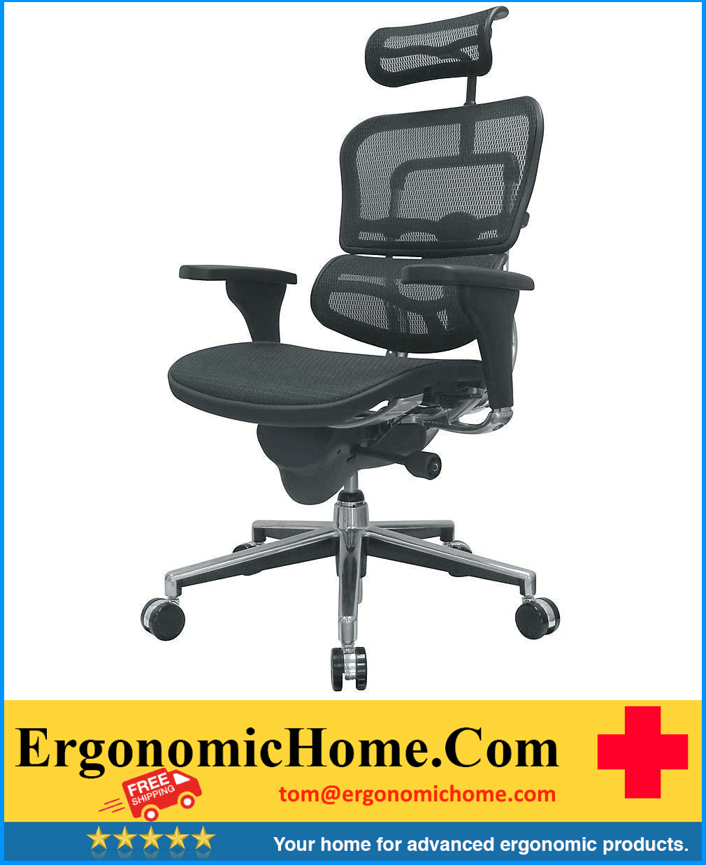 <font color=#087a32>ERGOHUMAN HIGH-BACK MESH CHAIR EH-ME7ERG GREEN</font>