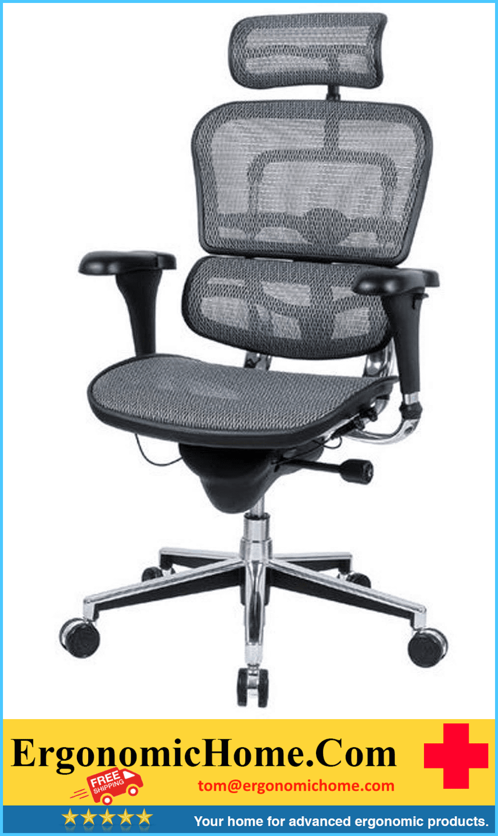 <font color=#8a8a8a>ERGOHUMAN HIGH-BACK MESH CHAIR EH-ME7ERG GREY</font>
