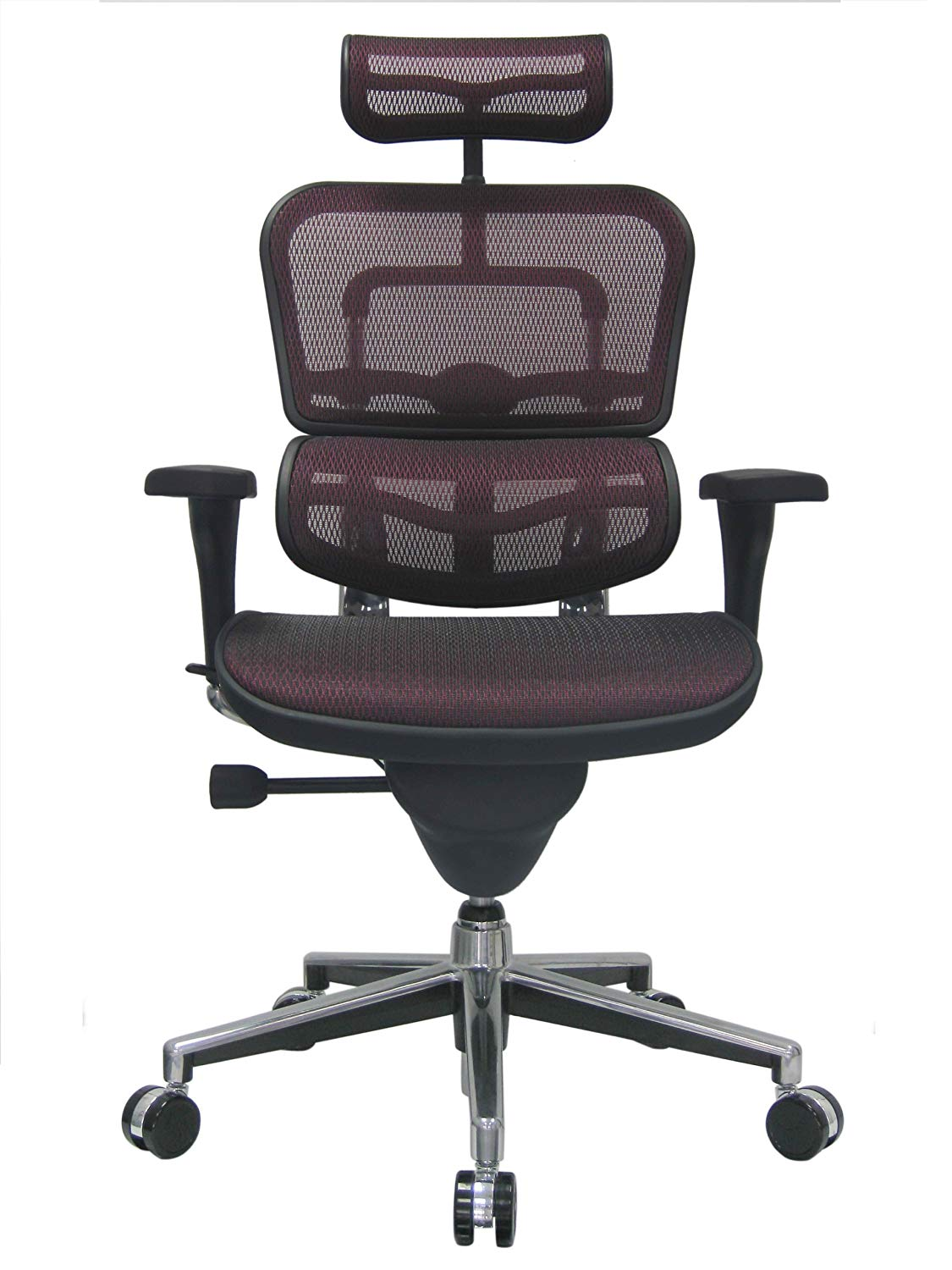 <font color=#833737>ERGOHUMAN HIGH-BACK MESH CHAIR EH-ME7ERG PLUM RED</font>