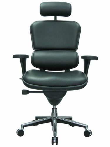 Ergohuman Leather High-Back Office Chair with Headrest - FREE SHIPPING