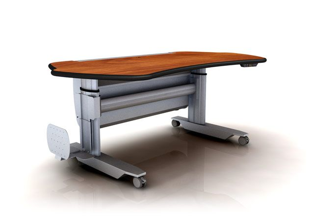 "Ergonomic Home Adjustable PACS Stand Up Desk #MT5-SL-E-L2. Dim: 67"" x 38""."