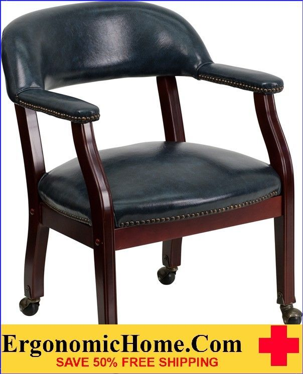Ergonomic Home Black Vinyl Luxurious Conference Chair with Casters   VIDEO BELOW.