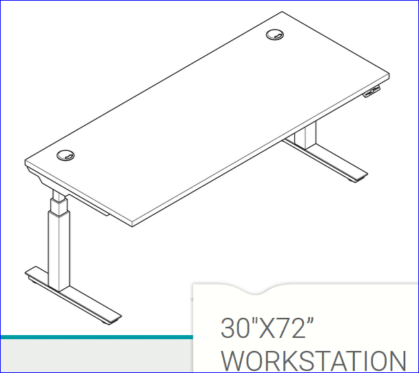 """ERGONOMIC HOME BOOST SIT STAND WORKSTATION DESK 72"""" X 30"""" #EH-BHA3072. SHIPS IN 5-7 DAYS W/FREE SHIPPING:"""