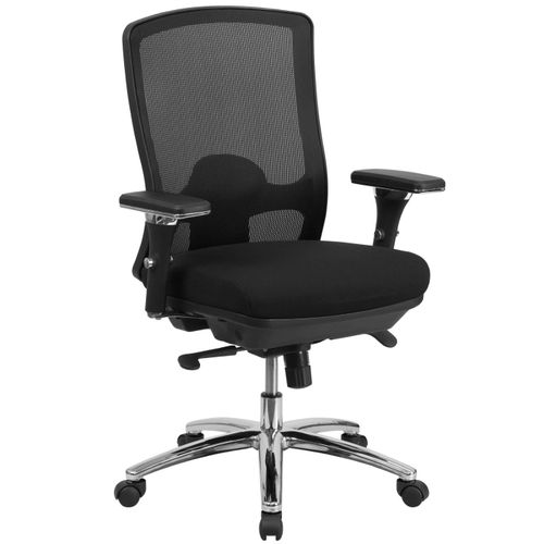 TOUGH ENOUGH Series 24/7 Intensive Use Big & Tall 350 lb. Rated Black Mesh Multifunction Swivel Ergonomic Office Chair