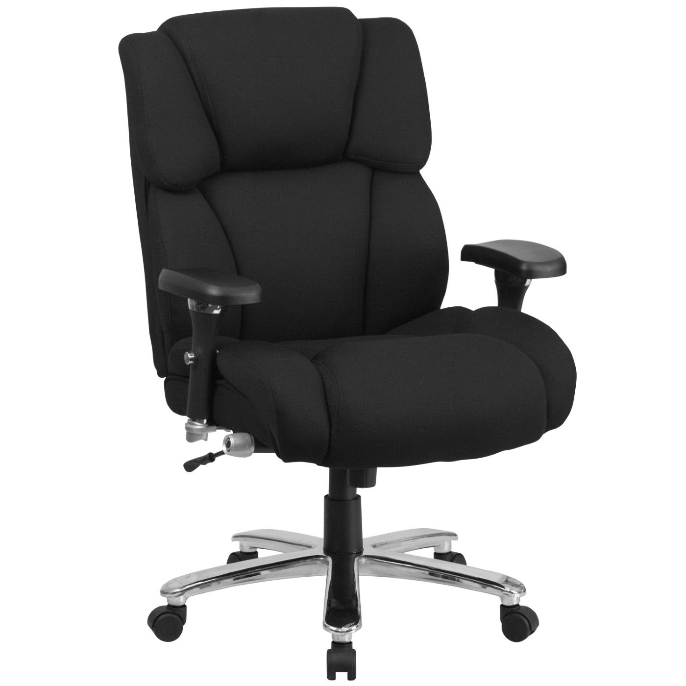 TOUGH ENOUGH Series 24/7 Intensive Use Big & Tall 400 lb. Rated Black Fabric Executive Ergonomic Office Chair with Lumbar Knob