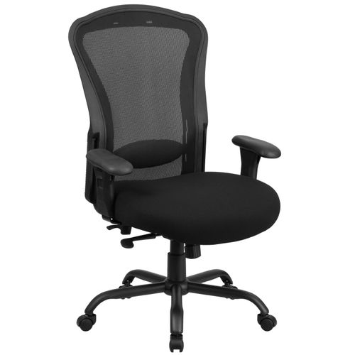 TOUGH ENOUGH Series 24/7 Intensive Use Big & Tall 400 lb. Rated Black Mesh Multifunction Synchro-Tilt Ergonomic Office Chair