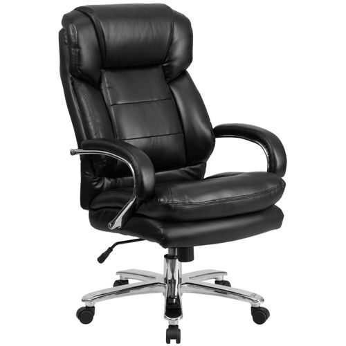 Big & Tall Office Chair|Black LeatherSoft Swivel Executive Desk Chair with Wheels