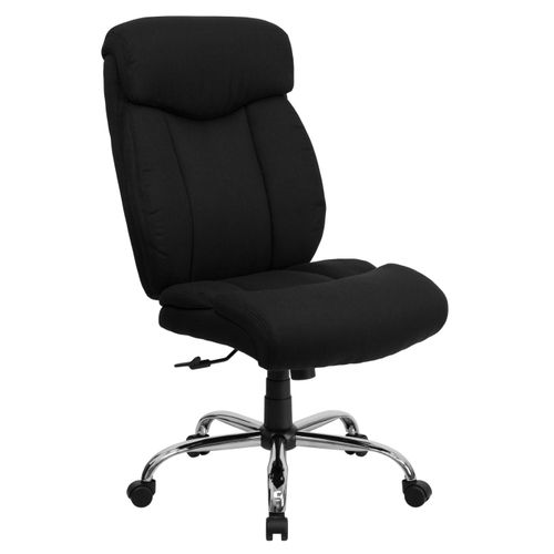 TOUGH ENOUGH Series Big & Tall 400 lb. Rated Black Fabric Executive Ergonomic Office Chair and Chrome Base