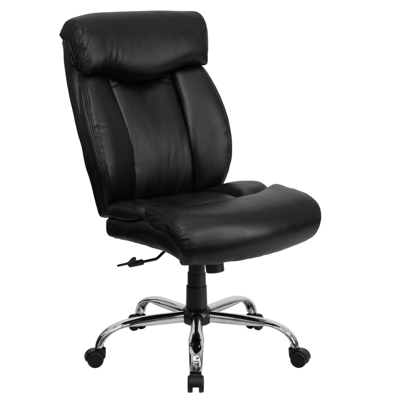 TOUGH ENOUGH Series Big & Tall 400 lb. Rated Black LeatherSoft Executive Ergonomic Office Chair with Full Headrest
