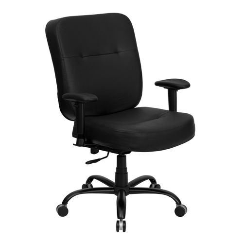 TOUGH ENOUGH Series Big & Tall 400 lb. Rated Black LeatherSoft Executive Ergonomic Office Chair with Adjustable Arms