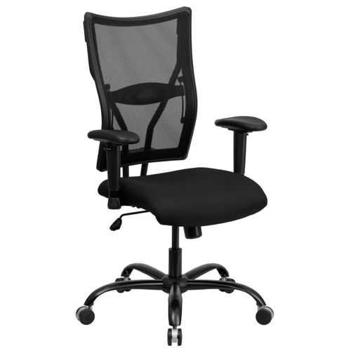 TOUGH ENOUGH Series Big & Tall 400 lb. Rated Black Mesh Executive Swivel Ergonomic Office Chair with Adjustable Arms