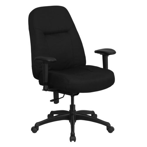 TOUGH ENOUGH Series 400 lb. Rated High Back Big & Tall Black Fabric Executive Ergonomic Office Chair with Adjustable Arms