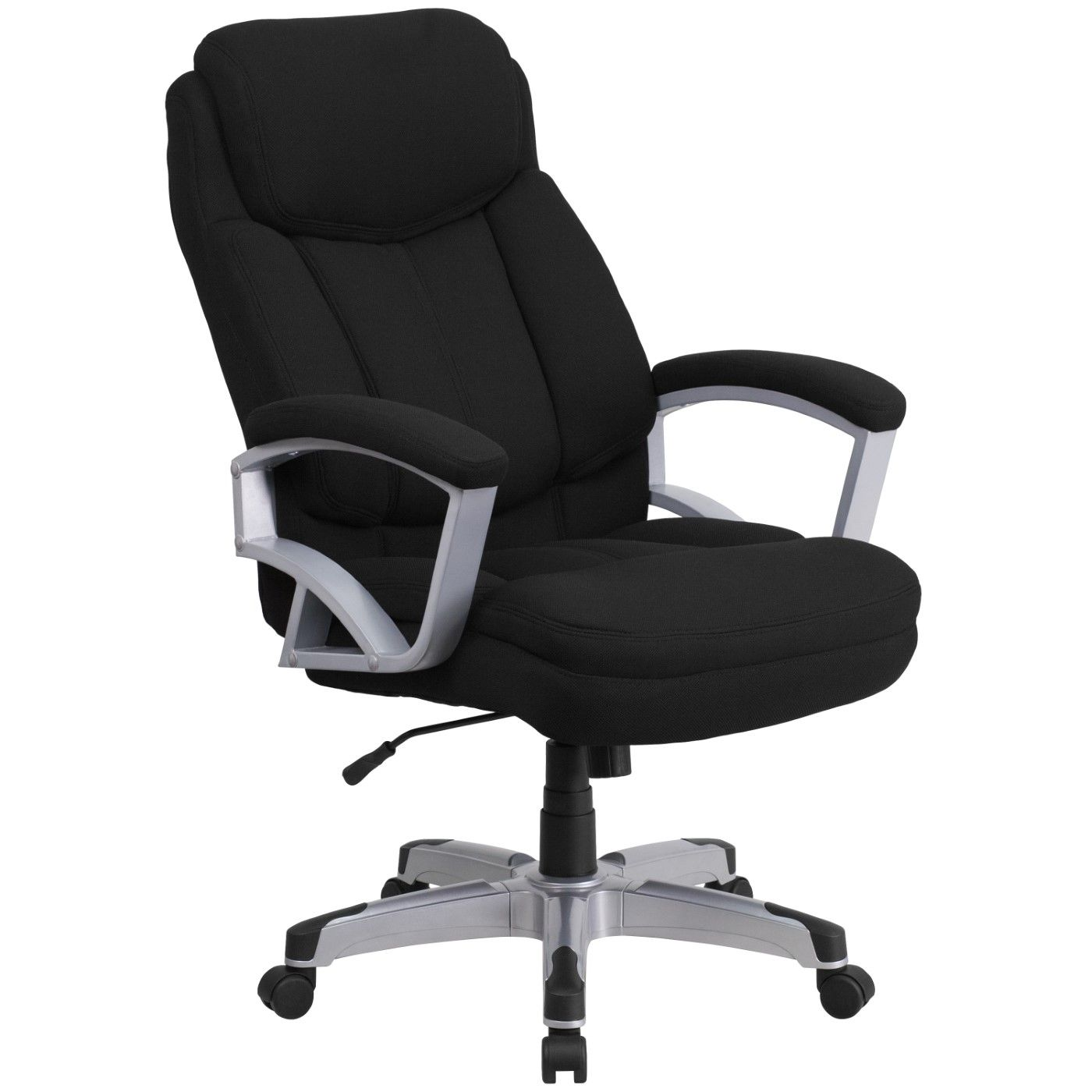 TOUGH ENOUGH Series Big & Tall 500 lb. Rated Black Fabric Executive Swivel Ergonomic Office Chair with Arms