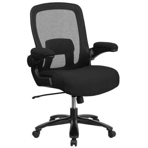 Big & Tall Office Chair|Black Mesh Executive Swivel Office Chair with Lumbar and Back Support and Wheels