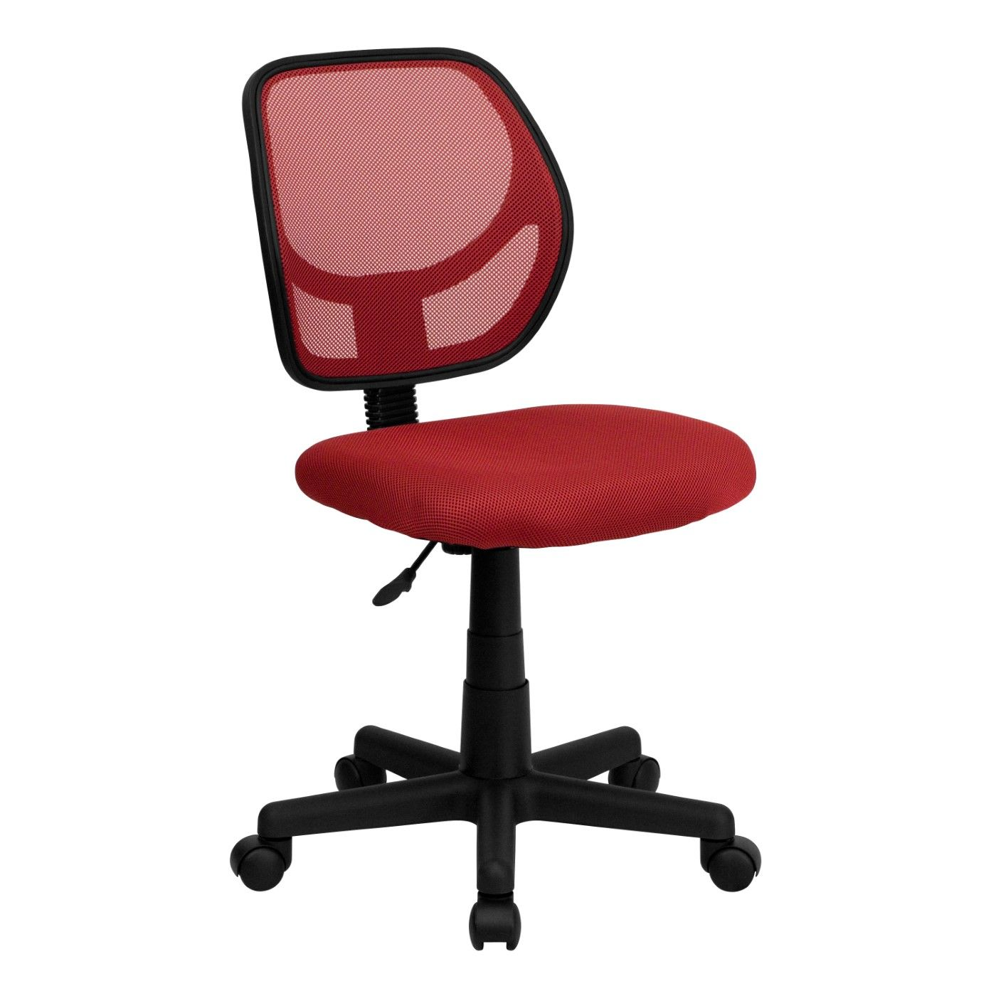 Low Back Red Mesh Swivel Task Office Chair