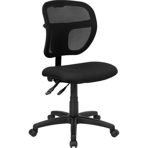 Mid-Back Black Mesh Swivel Task Office Chair with Back Height Adjustment