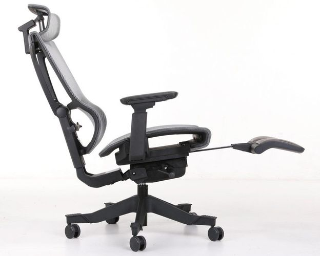 ERGONOMIC HOME MISSION MESH OFFICE CHAIR W/ HEADREST AND W/FOOTREST.