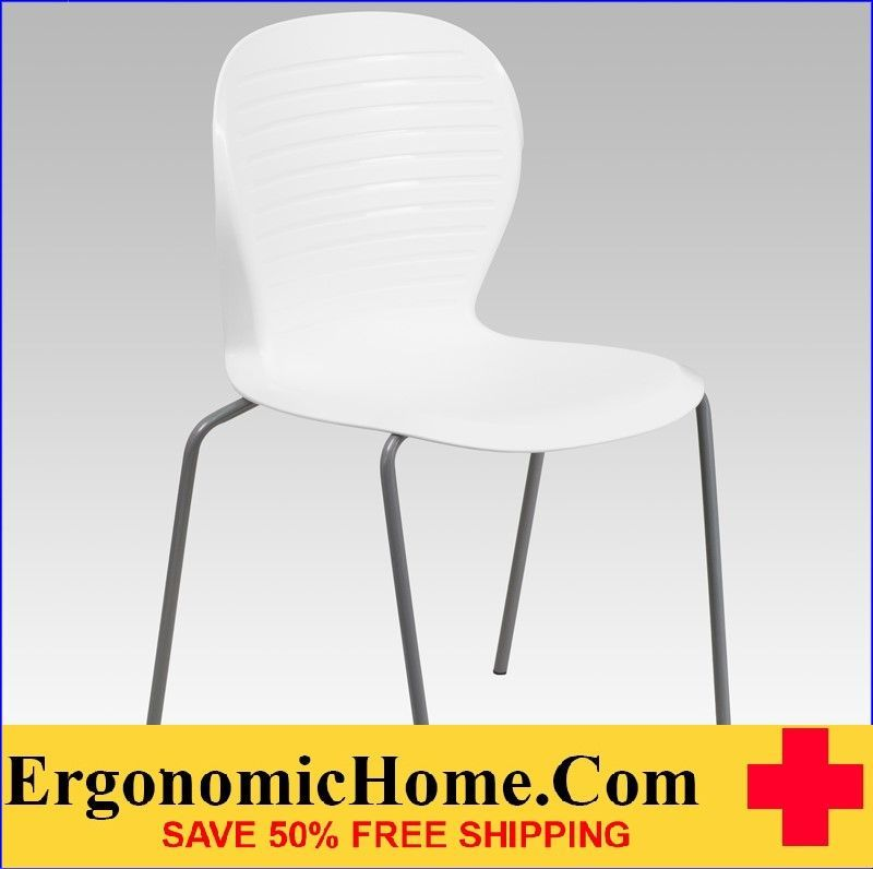 ERGONOMIC HOME TOUGH ENOUGH Series 551 lb. Capacity White Stack Chair EH-RUT-3-WH-GG <b><font color=green>50% Off Read More Below...</font></b>