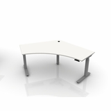 """50% DISCOUNT W/FREE SHIPPING IN 7 BIZ DAYS FOR THIS ^BOOST^ CORNER SIT STAND DESK. DIMENSIONS W=83"""" (6.92 feet) D=44.75"""" (3.73 feet). CLICK 2 ORDER."""