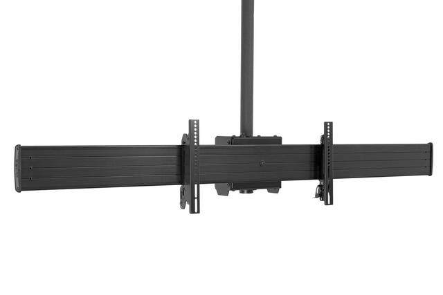 "CHIEF FUSION #LCM2X1U Large Back to Back Ceiling Mounted 2 x 1 Menu Board. Includes 8"" Ceiling Plate with Adjustable 1.5"" NPT Column, Black. </b></font>"