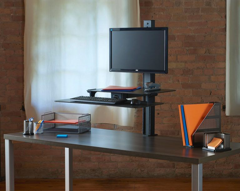 """Health Postures Adjustable Monitor Mount 