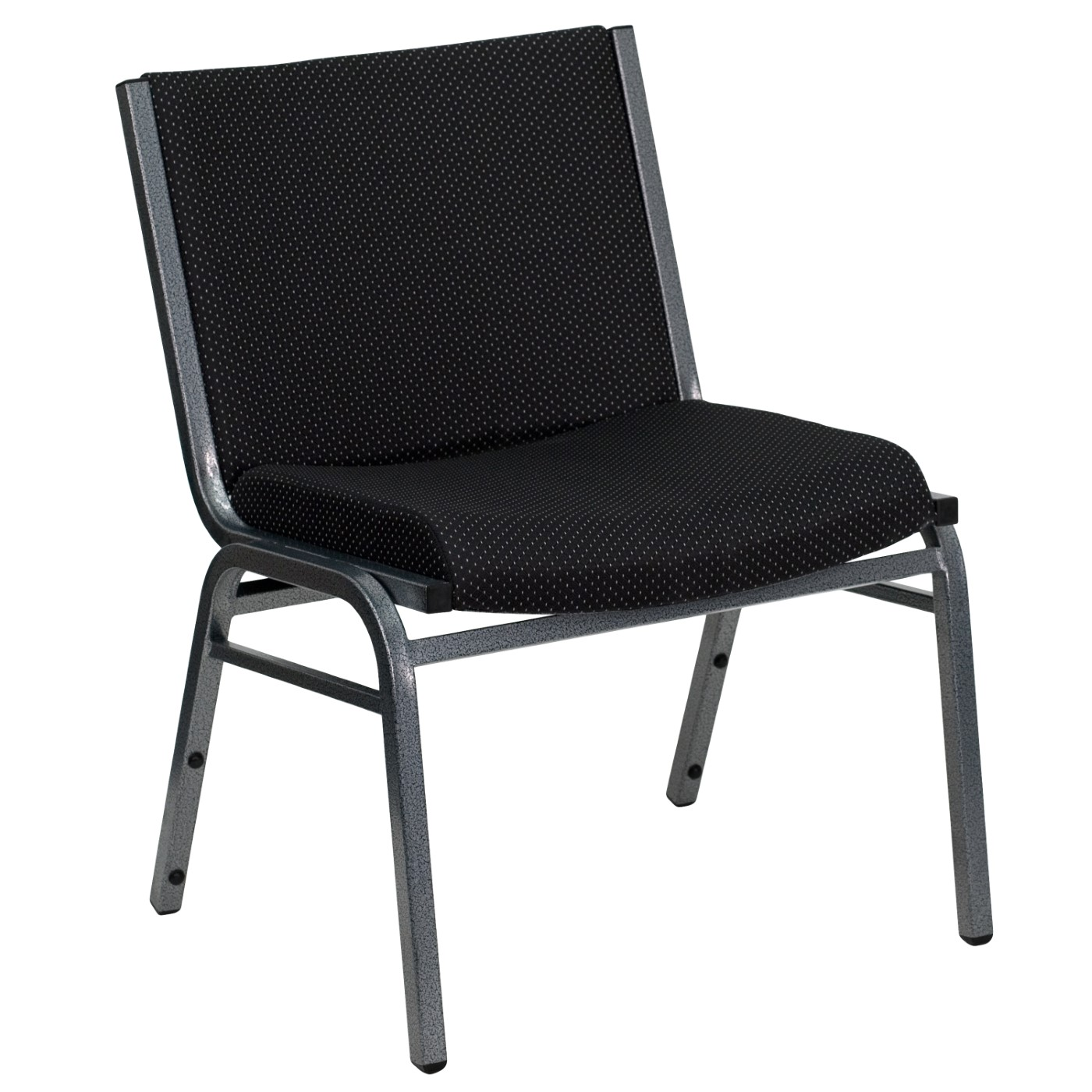 TOUGH ENOUGH Series Big & Tall 1000 lb. Rated Black Fabric Stack Chair
