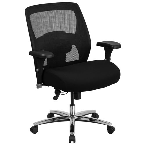 TOUGH ENOUGH Series 24/7 Intensive Use Big & Tall 500 lb. Rated Black Mesh Executive Ergonomic Office Chair with Ratchet Back