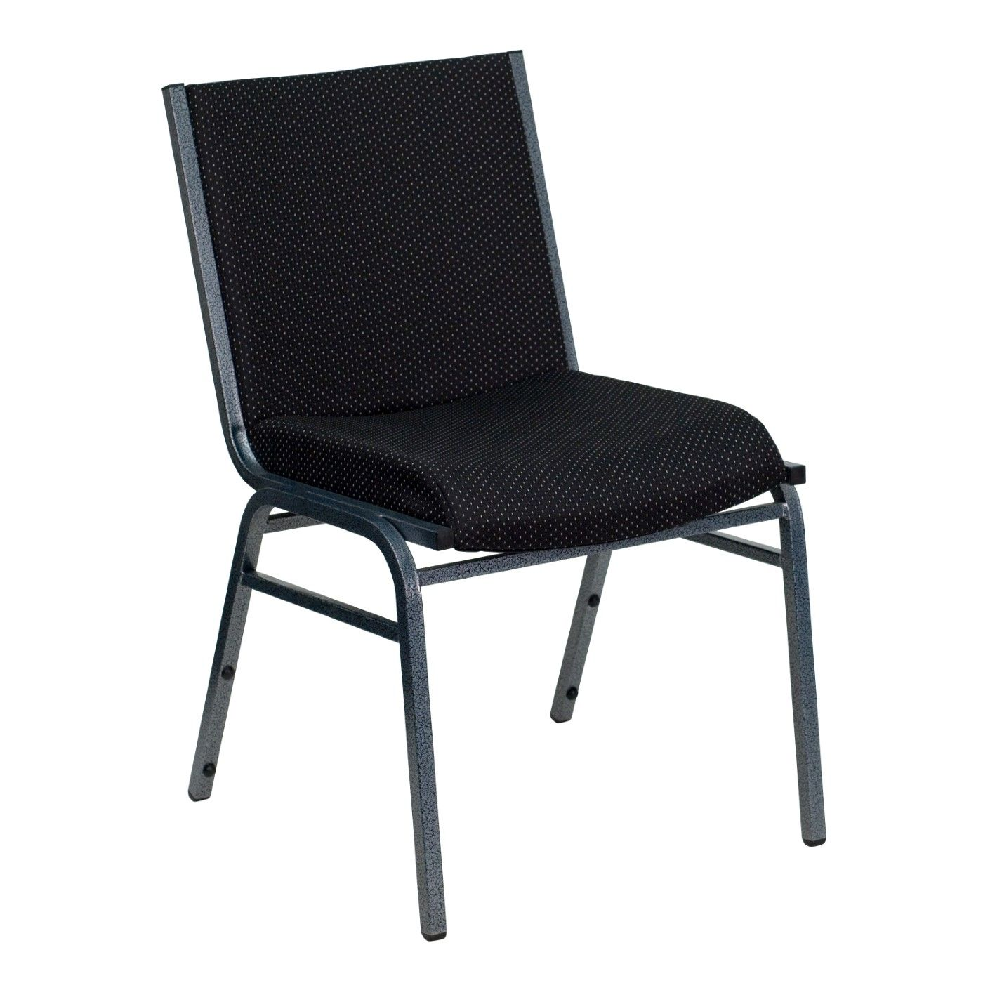 TOUGH ENOUGH Series Heavy Duty Black Dot Fabric Stack Chair
