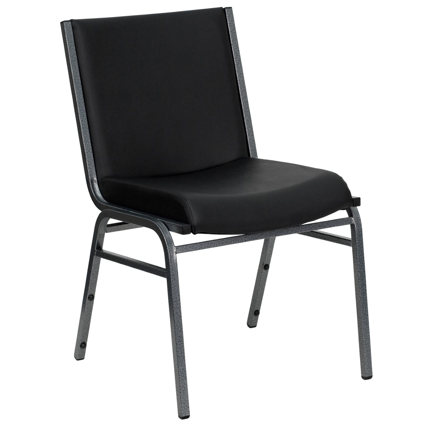 TOUGH ENOUGH Series Heavy Duty Black Vinyl Stack Chair